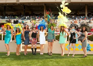"""The 18th edition of the """"One and Only Truly Fabulous Hats Contest"""" at Del Mar."""
